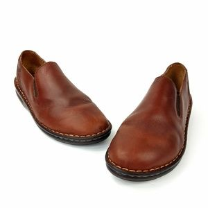 Born Brown Loafers Slip On Shoes Womens Size 9